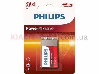 Батарейка 6LR61 щелочная 9V (Крона) Philips 6LR61P1B/10