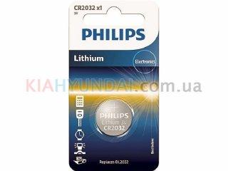 Батарейка CR2032 литиевая 3V Philips CR2032/01B
