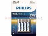 Батарейки AAA LR03 1.5V Ultra щелочные Philips LR03E4B/10
