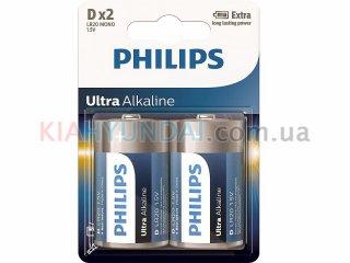 Батарейки D LR20 1.5V щелочные Philips LR20E2B/10