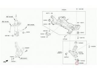 Гайка крепления шаровой опоры Carens Ceed Cerato K5 Magentis Optima Sorento Sportage Elantra ix35 Santa Fe Sonata Tucson MOBIS 545592G000