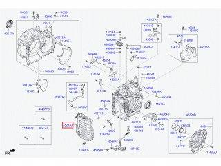Крышка АКПП Ceed Cerato Forte Rio Soul Sportage Accent Creta Elantra i30 Solaris MOBIS 452802F000