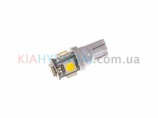 LED лампа W5W 75Lm 5xSMD (5050) (белая) 10150