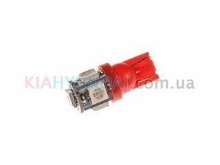 LED лампа W5W 75Lm 5xSMD (5050) (красная) 10170