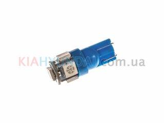 LED лампа W5W 75Lm 5xSMD (5050) (синяя) 10160