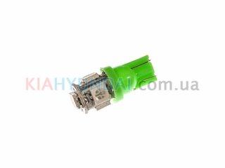 LED лампа W5W 75Lm 5xSMD (5050) (зеленая) 10180