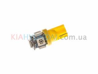 LED лампа W5W 75Lm 5xSMD (5050) (желтая) 10190