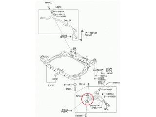 Сайлентблок переднего рычага Ceed Cerato Elantra i30 MOBIS (передний) 545840Q000